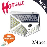 270 ° 100 luce solare a LED per esterni lampada solare PIR sensore di movimento luce solare alimentata a energia solare lampione per la decorazione del giardino