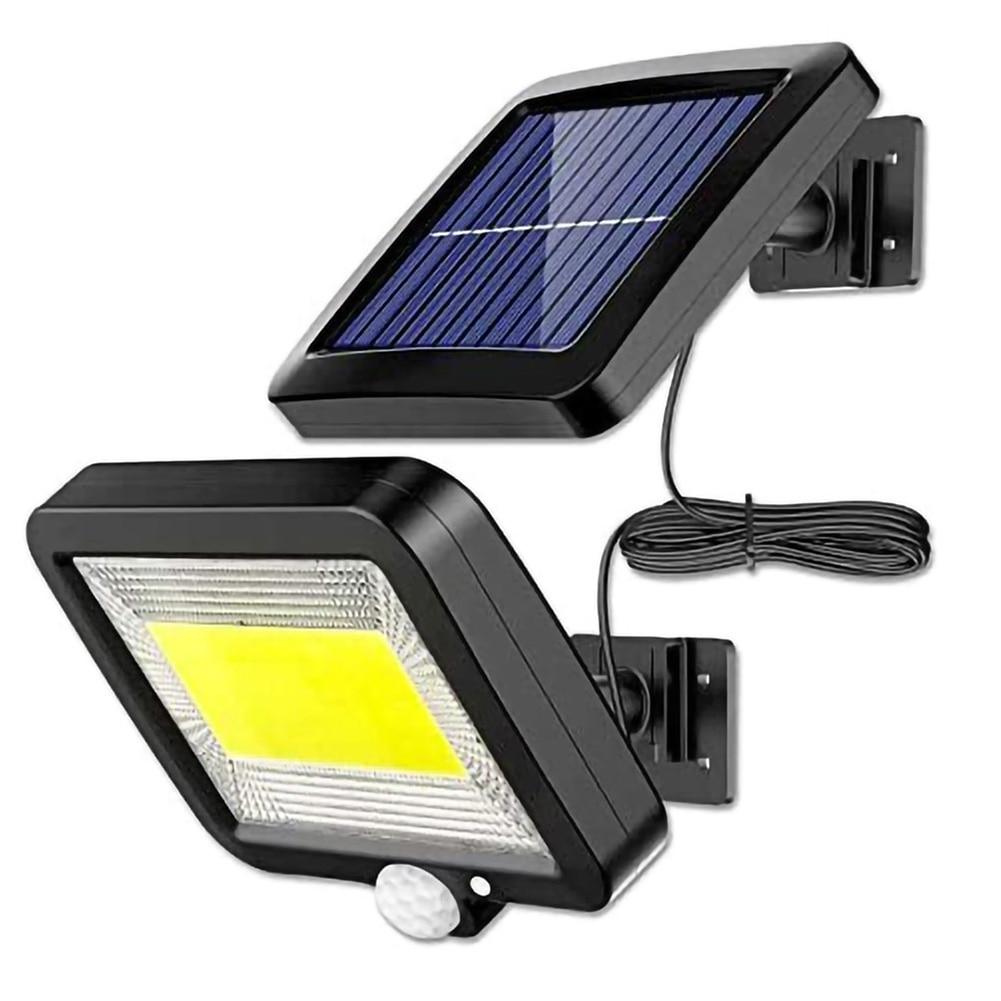 Светодиодный настенный светильник на солнечной батарее, водонепроницаемые лампы с пассивным ИК датчиком движения, 3 режима, уличный фонарь ...