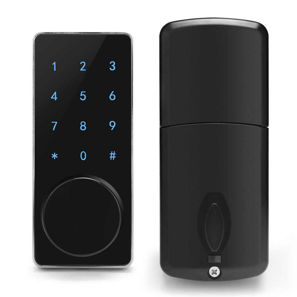 Mini Tuya WiFi Smart Door Lock Smart Life App Super Password Back Light Keypad IC Card Open Emergency Key Low Battery Alarm image