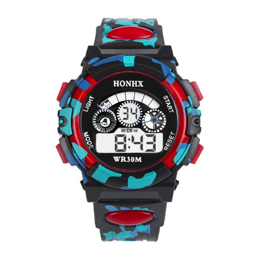 OTOKY2019 New Outdoor Children Boys Girls LED Watch Multifunction Waterproof Sports Electronic Watches Dropshiping 4