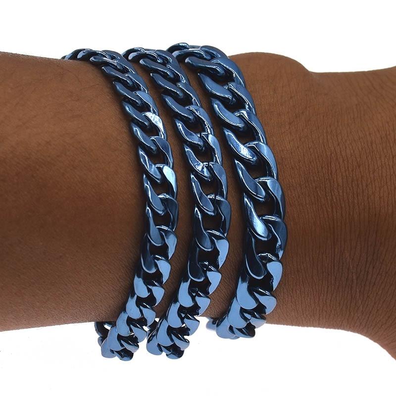 Chain On Hand For Mens Bracelet Cuban Link Bracelet Men Accessories Fasion Unisex Wrist Jewellery Gifts
