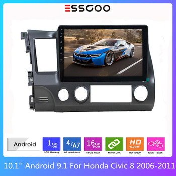 ESSGOO 10'' Car Radio Bluetooth Autoradio Android 9.0 For Honda Civic 8 2006-2011 Auto Multimedia Video Player GPS 2din 2 din image