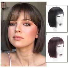 Short Bob Wigs Brazilian Human Hair Non-Remy Hair Natural Black Short Straight Wig With Bangs Short Human Hair Wigs