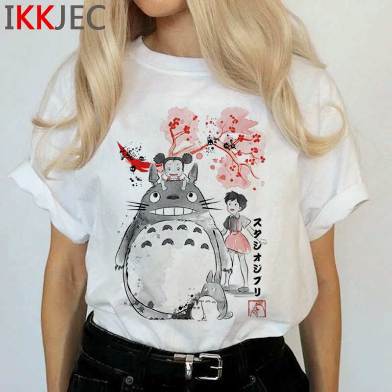 Totoro Harajuku Studio Ghibli T Shirt Women Miyazaki Hayao Ullzang Cute T-shirt Funny Cartoon Tshirt 90s Graphic Top Tees Female 20