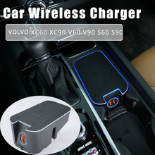 For volvo s60 xc60 s90 xc90 v60 v90 wireless charger car