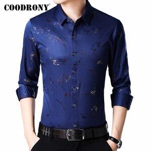 Image 1 - COODRONY marka erkek gömlek uzun kollu pamuklu gömlek erkek sonbahar erkek Casual Shirt Streetwear moda tasarım Camisa Masculina 96069