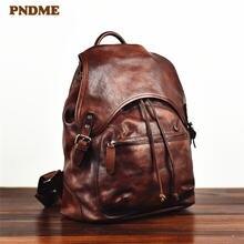 Мужской рюкзак из натуральной кожи pndme винтажный дизайнерский