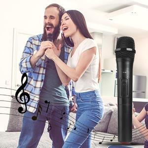 Image 3 - ワイヤレスマイクメガホンハンドヘルドマイク用のusbレシーバーとカラオケ音声スピーカーオーディオマイクマイクキット