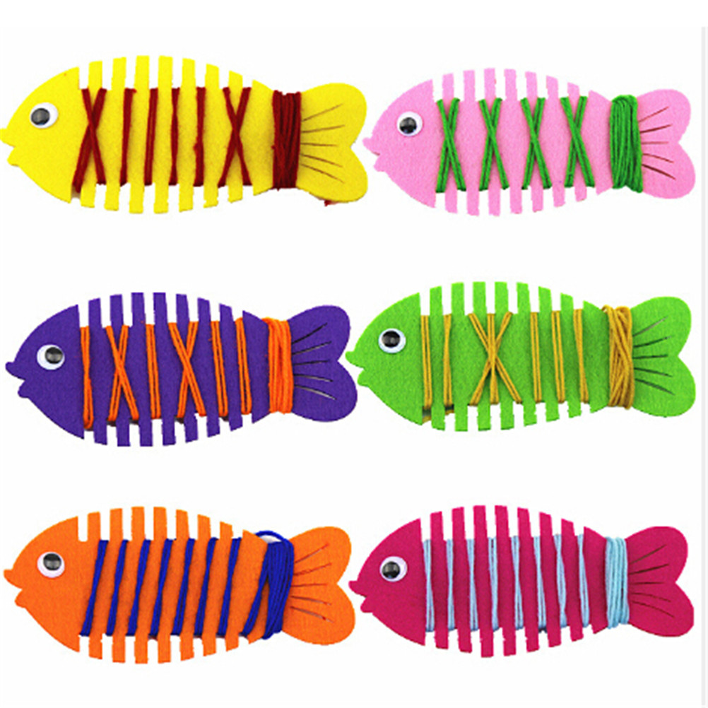 Teaching Aids Kindergarten Wrapped Threading Wear Line Fish Manual Game Puzzle Early Learning Education Toys Math Toy