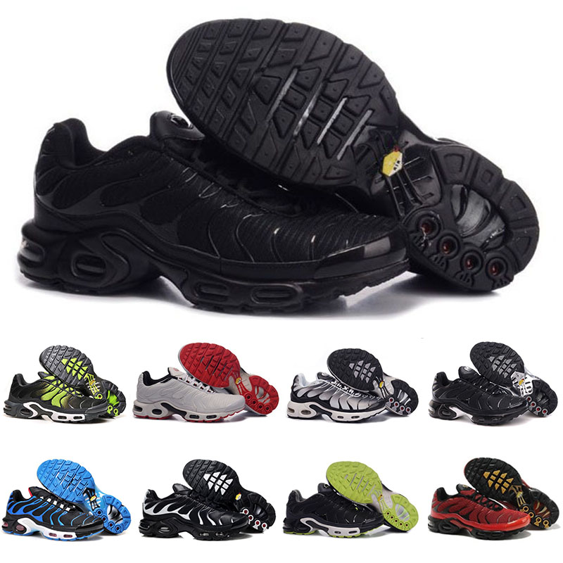 AQLOAC Cheap Men Women Shoes Rainbow Green TN Ultra Sport Shark Sneakers Air Caushion Running Shoes Max Size Us12