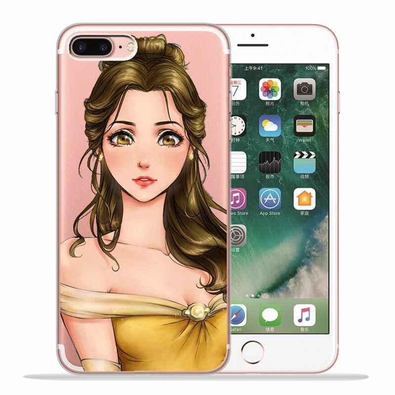 Роскошная Королева Принцесса для iPhone X XR XS Max 5 5S SE 6 6S 7 8 Plus чехол для телефона Funda Coque capinha Etui мультфильм милый