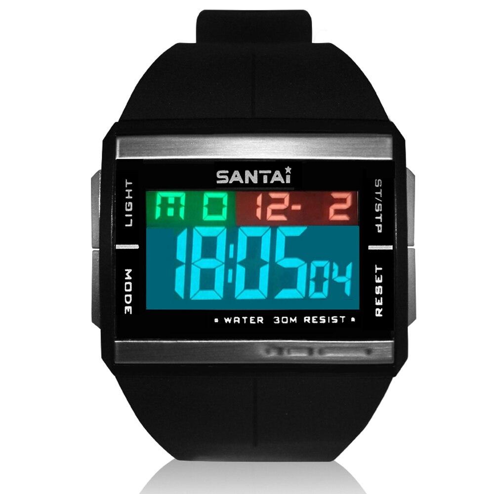전자 새로운 스포츠 시계 남자 디지털 방수 시계 고무 밴드 디스플레이 백라이트 군사 남자 손목 시계 led 시계 reloj-에서디지털 시계부터 시계 의 title=