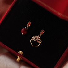new geometric asymmetrical small ear nail ring decoration  korean women earrings christmas gifts for