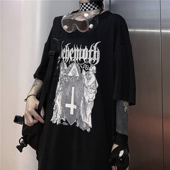 Hip Hop O-neck Tshirt Streetwear Men Women Japanese Cool Punk Print Loose Short T Shirt Men Summer Half Sleeve T Shirt Funny