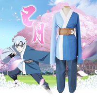 Naruto Mitsuki Cospaly Blue Wigs Costumes Kimono Suits For Halloween Party Blue Tops Pants Set halloween costumes for Unisex