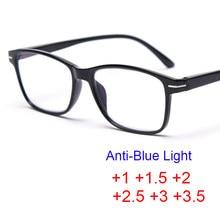 + 1 + 1,5 + 2 + 2,5 + 3 + 3,5, gafas para hipermetropía, lentes transparentes para Hombre, gafas ópticas para leer, Focus Plus
