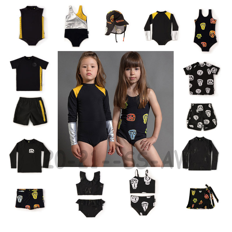 2020 SS Swimming Wear For Boys And Girls Baby Fashion Beach Swimsuits And Surf Swim Shorts New Summer Hawaii Clothing Sets 1-11Y