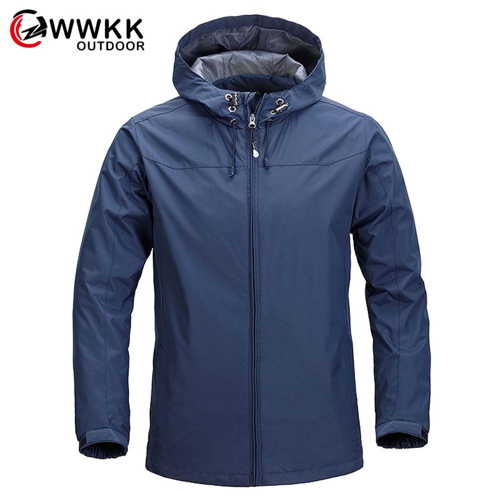 WWKK Men's New Climbing Trekking Windbreaker Fishing Waterproof Jackets Outdoor Hiking Jacket Men Spring Autumn Sports Rain Coat