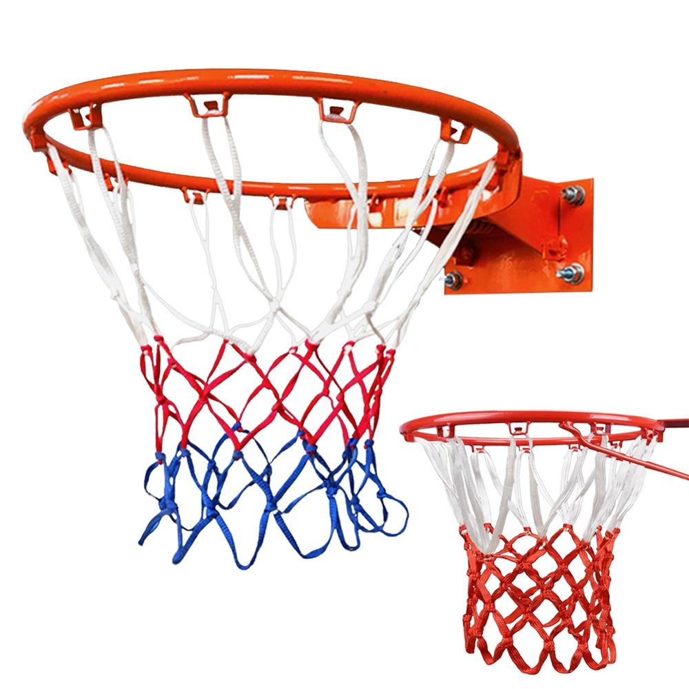 1 шт., высокое качество, прочный, стандартный размер, нейлоновая нить, спортивный баскетбольный обруч, сетка, задняя панель, ободок, мяч, 12 крю...