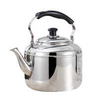 New Stainless Steel Kettle Whistling Tea Kettle Coffee Kitchen Stovetop Induction for for Home Kitchen Camping Picnic 4L|Teapots| |  -