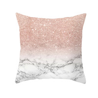 Мрамор диван домашний декор цвета розового золота розовый подушки 45х45см наволочка для декоративной подушки геометрический Nordic