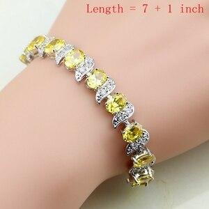 Image 2 - Drop 925 Sterling Silver Jewelry Yellow Cubic zirconia Jewelry Sets For Women Earrings Pendant Rings Bracelet Necklace Set