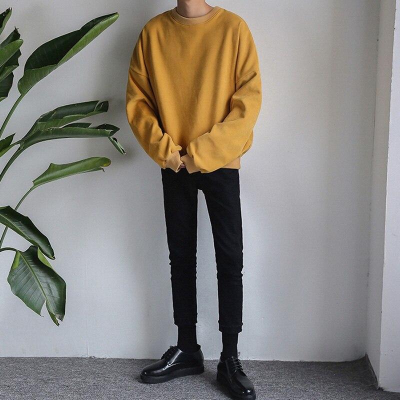 Мужской Повседневный пуловер толстовка с длинным рукавом и круглым
