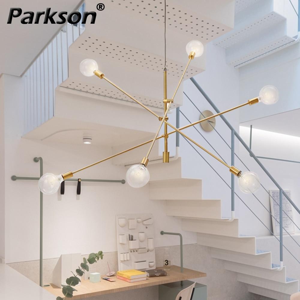 Modern Pendant Lights Nordic Hang Lamp E27 Black Gold LED Bulb Hanging Lamp Ceiling Pendant Lamparas De Techo Colgante Moderna