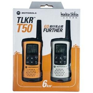 Image 5 - Motorola Tlkr T50 Walkie Talkie Met 20 Kanalen 6Km Afstand Outdoor Walkie Talkie Ondersteuning Ni Mh Batterij & Aaa Batterij