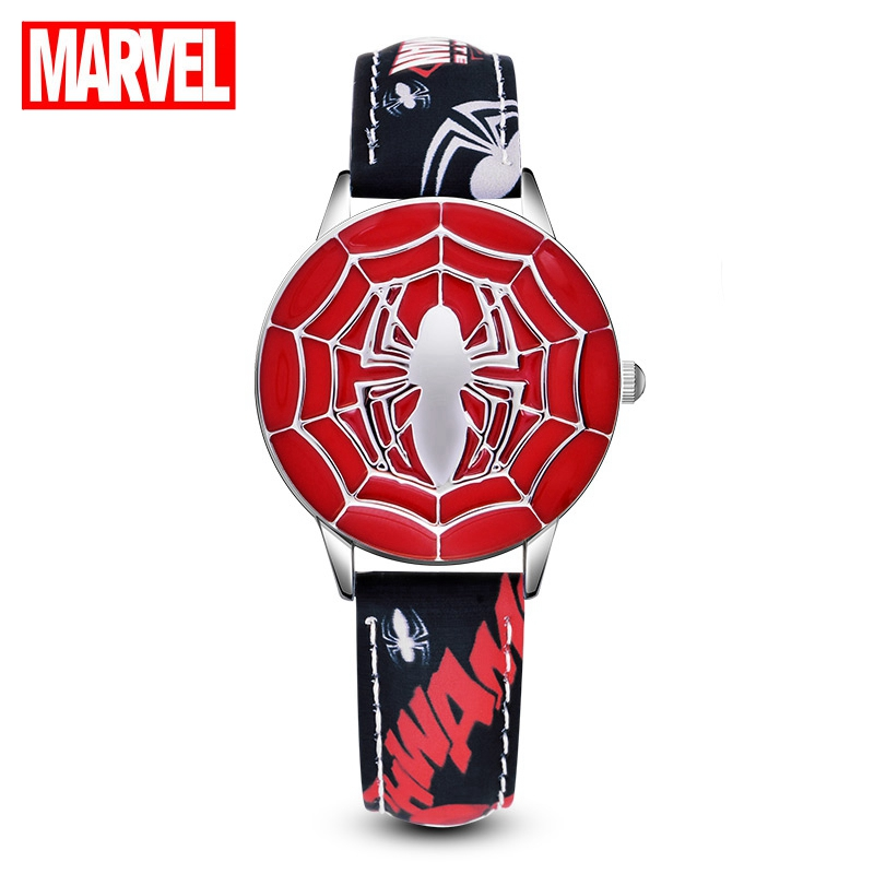 Marvel Avengers Amazing Ultimate Spider Men Teen Boy Hero Dream Pupil Cool Watches Child Disney Student Clock Birthday Gift Kids
