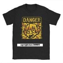 Demon Slayer koszulki męskie bawełniane koszulki Anime Tanjiro Kimetsu nie Yaiba Kamado Nezuko Zenitsu koszulki Fitness Harajuku