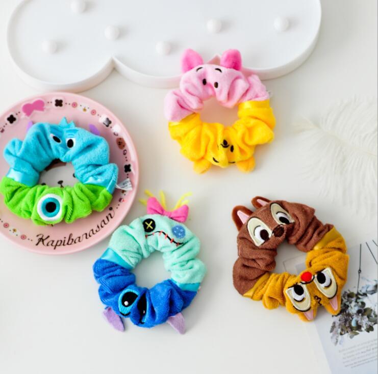 Cute Plush Toy Stitch Squirrel 10cm Soft Stuffed Toys Hair Band Hair Rope Wrist Strap Birthday Christmas Gift #2366