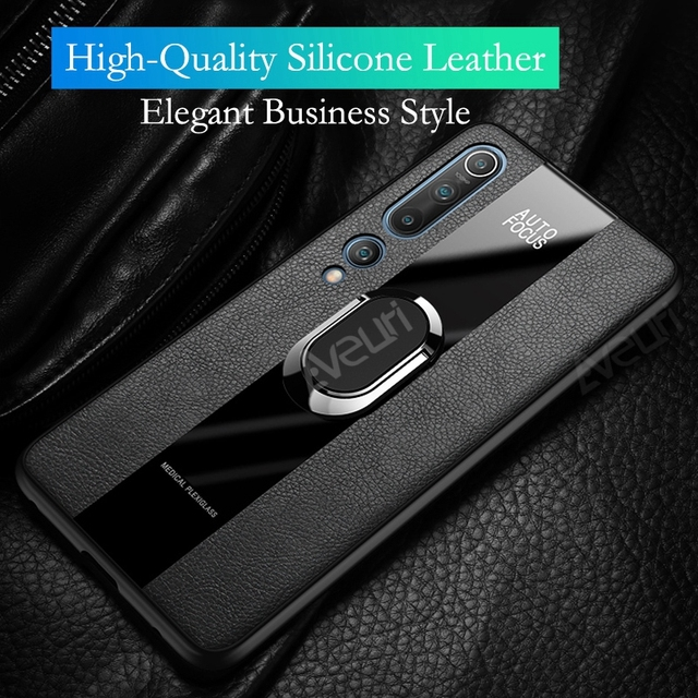 Redmi Note 9S Magnetyczny uchwyt samochodowy etui na telefony dla Xiaomi Mi 10 Pro 8 9 Lite 9T Pro Note 10 Pro skórzany pokrowiec Case dla Redmi uwaga 9 S 9 S 7 8 Pro T 8T 8A K20