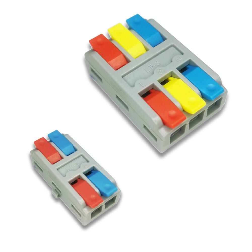 Универсальный мини быстрой зарядки кабель Разъем пуш-ап-в распределительная коробка 1/3/5/10 шт/Лот пуш-ап-в распределительная коробка SPL-2/3 све...