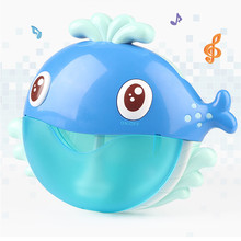 Lovely Baby Bath Appease Toy Cartoons Blue Whale Bubble Soap For Kids Bubbles Toy Machine Bath Bubble Bath Toys Gifts For Kids