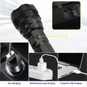 Image 5 - Linterna táctica Cree xhp70.2, recargable, tiro largo, 4200 lúmenes, 8000 mAh, gran capacidad, batería de litio, potente antorcha led