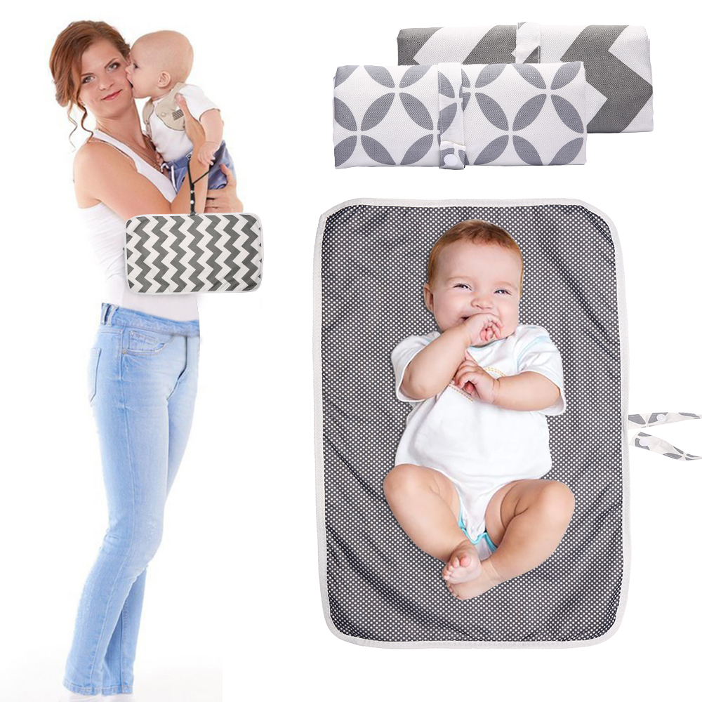 60*35CM Baby Changing Mat Portable Foldable Washable Waterproof Mattress Children Game Floor Mats Nappy Change Reusable Diaper