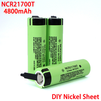 3.7V NCR21700T 4800mAh li-lon battery 15A 5C Rate Discharge ternary Electric car lithium batteries DIY Nickel sheets image