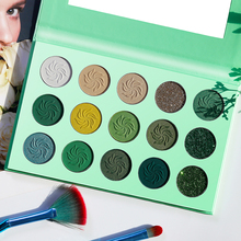 OEM Private Label natural eyeshadow palette matte shimmer matter glitter green eye makeup season color custom