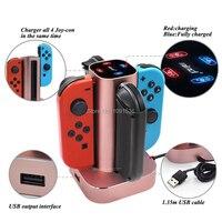 Mais novo Interruptor Acessórios de Metal Carregador Doca Estação De Carregamento Doca Nintend Interruptor 4 Joycon Nintendoswitch Para Nintendo Game