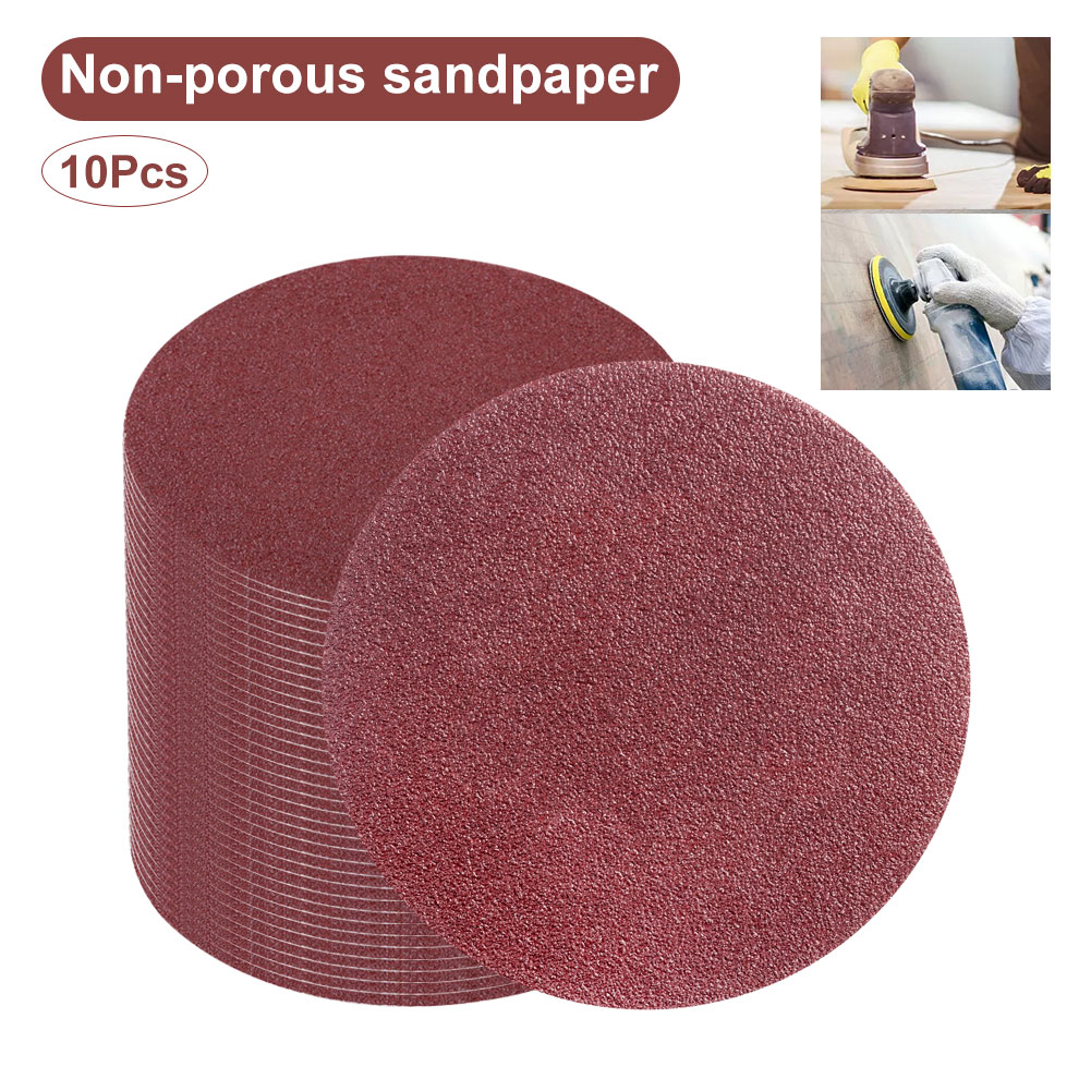 10pcs Polishing Woodworking Sanding Discs Hook Loop Round Sandpaper 5 Inch Grit <font><b>60</b></font># 80# 100# 120# 180# <font><b>1000</b></font># 1500# 2000# Sander image