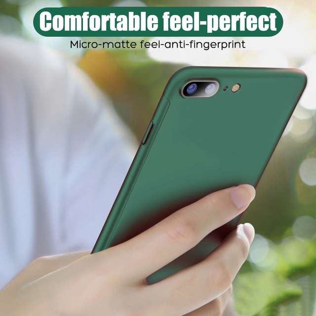 360 Full Body Phone Cases for iPhone 11 Pro Max XR XS X Protective Case for iPhone SE 2020 8 7 6 6S Plus 5 5S Cover with Glass 3