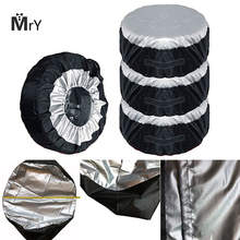 MAHAQI 65x37cm Tire Cover Case Car Spare Tire Cover Storage Bags Carry Tote Polyester Tire For Car Wheel Protection Covers Hot S