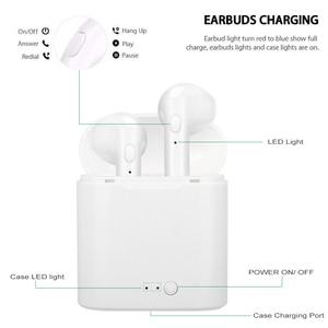 Image 4 - I7s Tws אלחוטי אוזניות Bluetooth 5.0 אוזניות ספורט אוזניות אוזניות דיבורית עם טעינת תיבת עבור iPhone Xiaomi טלפון