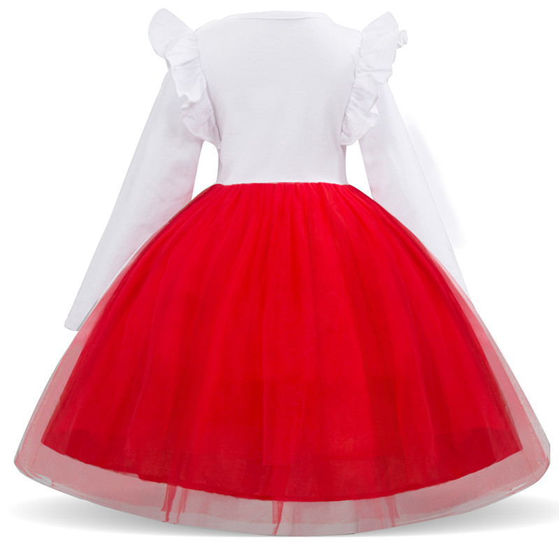 Ha09f888fc11f46ebb35852a7955570d42 Kids Dresses For Girls Long Sleeve Deer Snowflake Print Dress New Year Costume Princess Dress Kids Christmas Clothes Vestidos