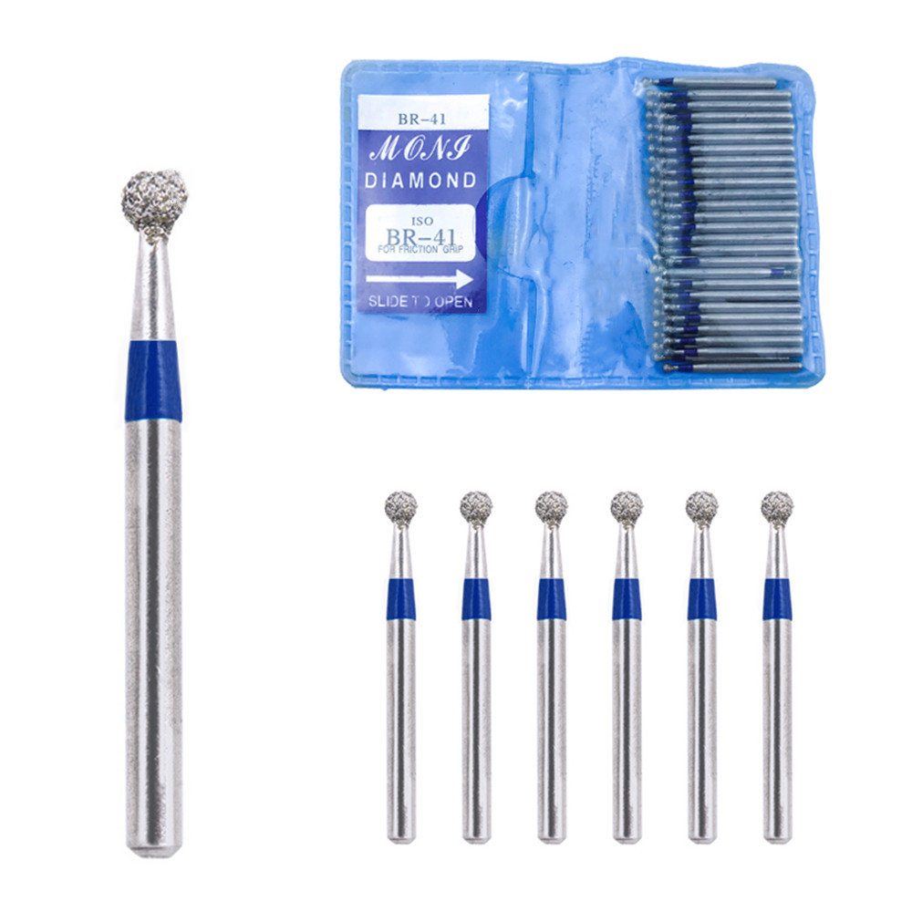 50PCS Dental Diamond FG High Speed Burs BR SERIES For Teeth Polishing 1.6mm