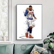 LeBron James Harden Curry Russell Westbrook Gather Poster Kyrie Irving Jordan Kobe Posters and Prints Canvas Painting Wall Art