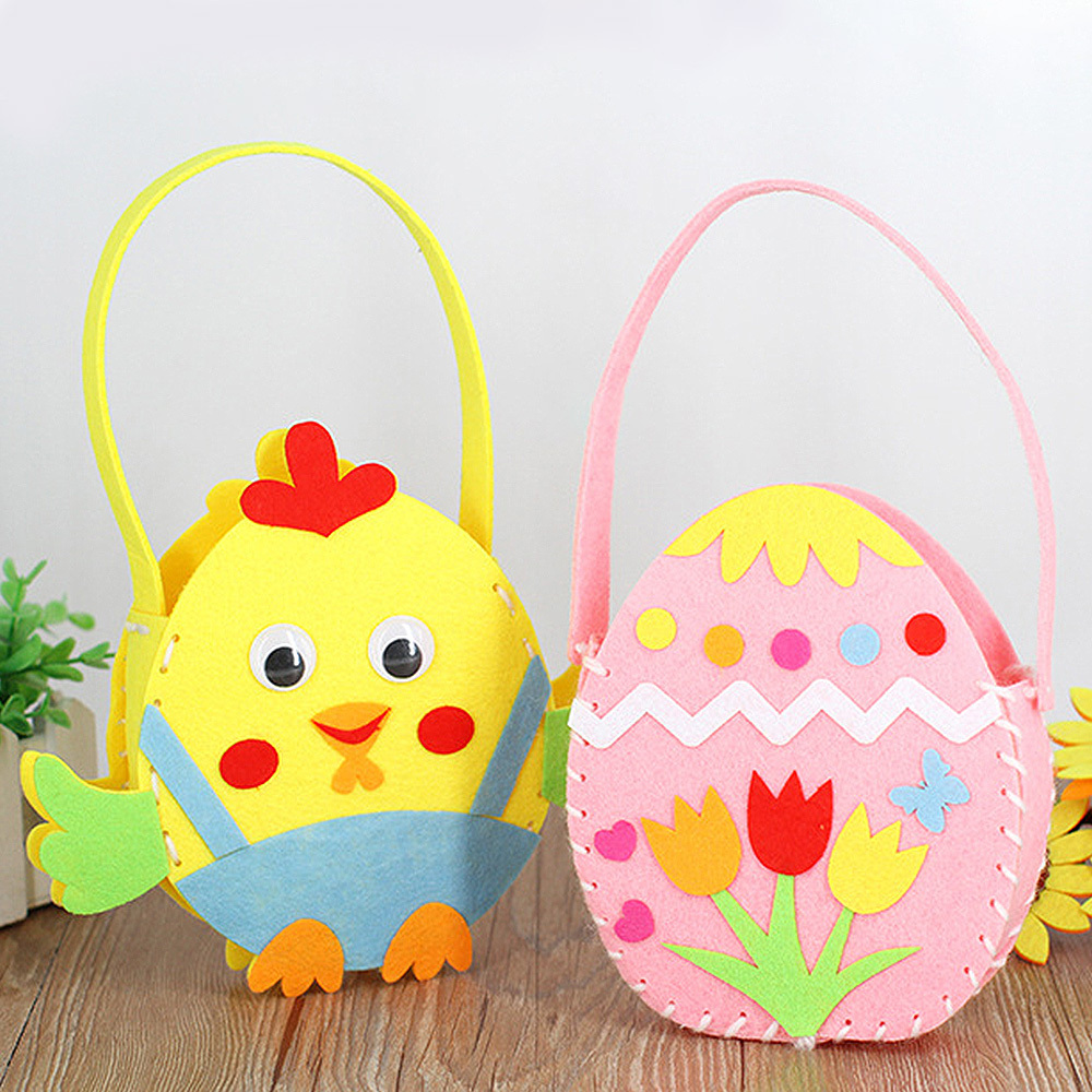 DIY Handmade Bags Cloth Bag Toys Children Toy Non-woven For Kindergarten Kid Children Birthday Gifts Kids Bags