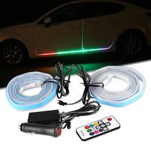 12V RGB Auto FÜHRTE Tür Licht Autos Tür Willkommen Lampe Auto Seite tür atmosphäre licht Dekorative Atmosphäre Lampe