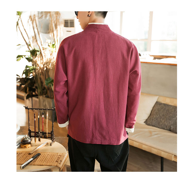 Sinicism Store Men Patchwork Shirt Streetwear Short Sleeve 19 Summer Harajuku Vintage Kimono Shirts Black Fashion Open Stitch 11